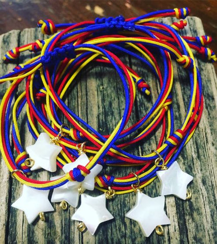 Star tricolor bracelet from venezuela