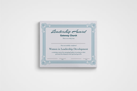 WiLD Women in Leadership Development Completion Certificate