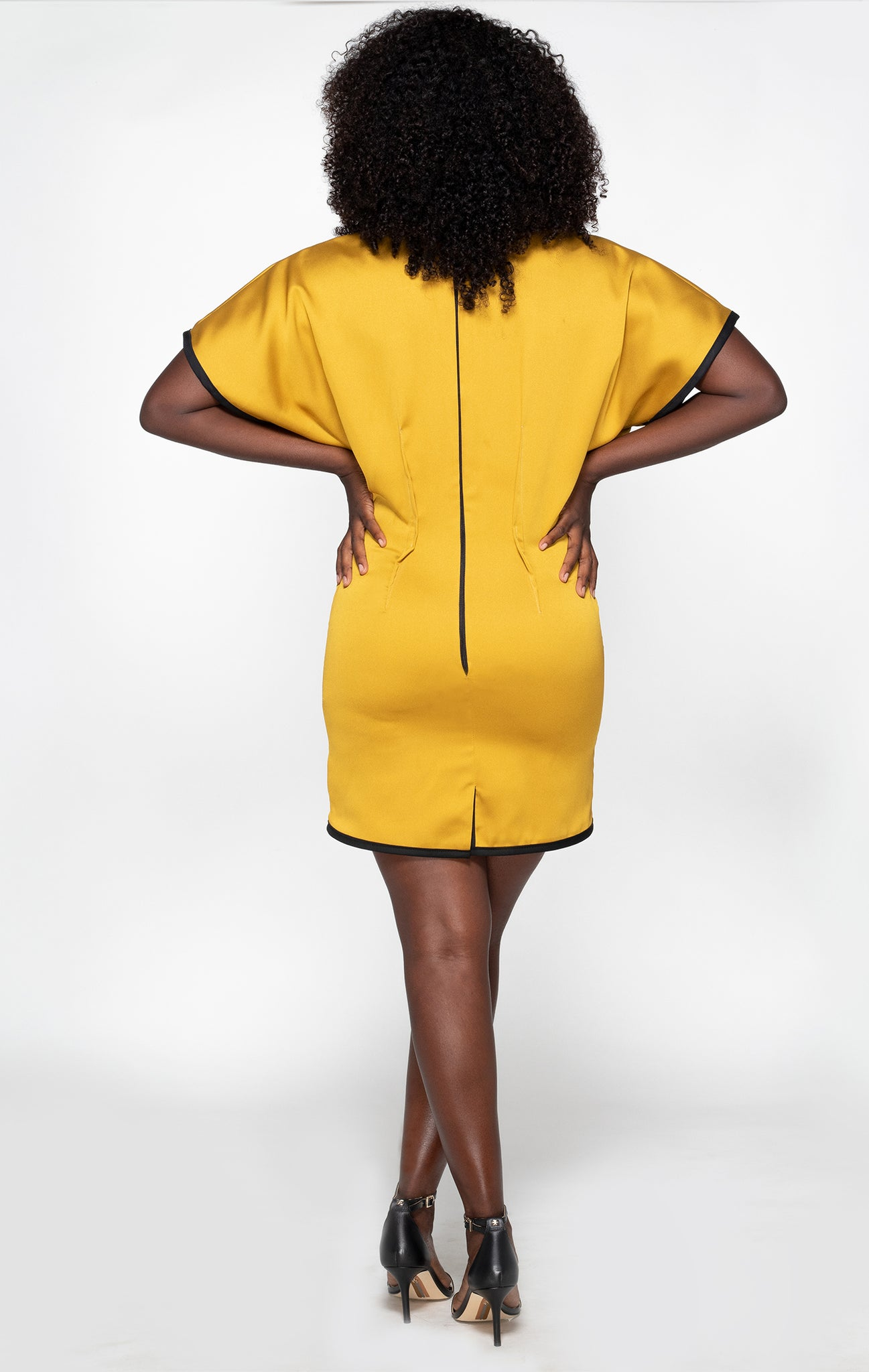 Dolman sleeve dress back view