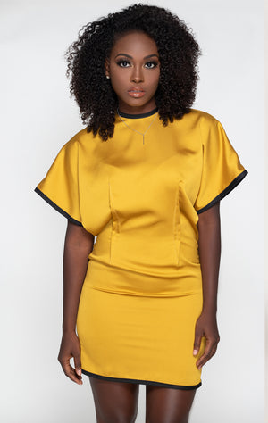 Dolman sleeve dress front view