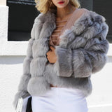 Fluffy Faux Fur Coat TOP407