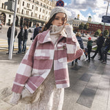 Long Plaid Woolen Coat TOP416