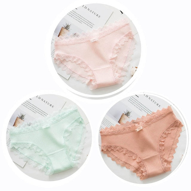 3pcs Sexy Lace Panty TOP409