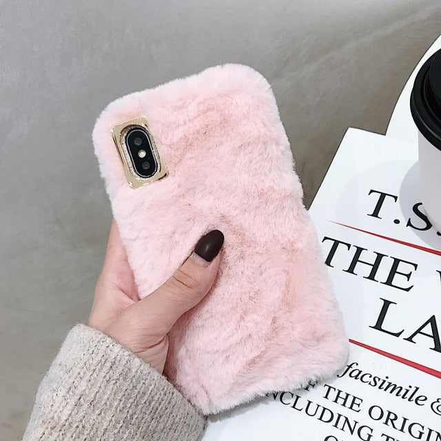Bunny Rabbit Fur Phone Case For IPHONE TOP348