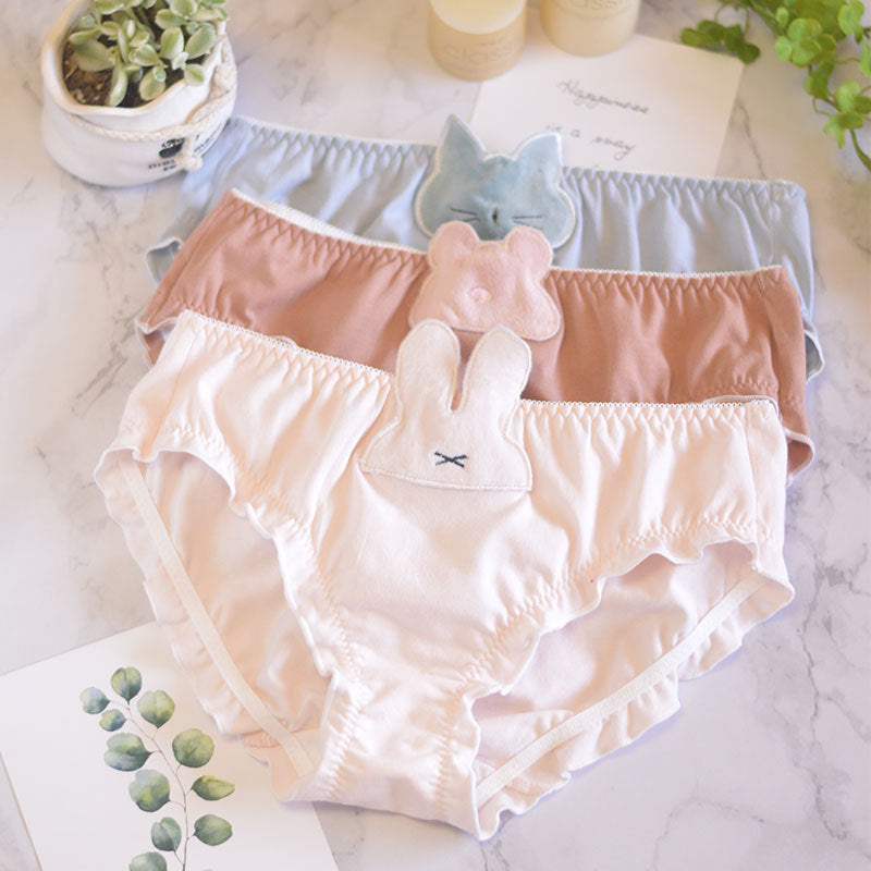 Kawaii Cartoon Anime Rabbit Bear Panty TOP381