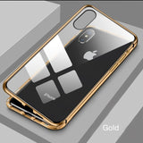 Double-Sided Metal Magnetic Adsorption Phone Case For IPHONE TOP342
