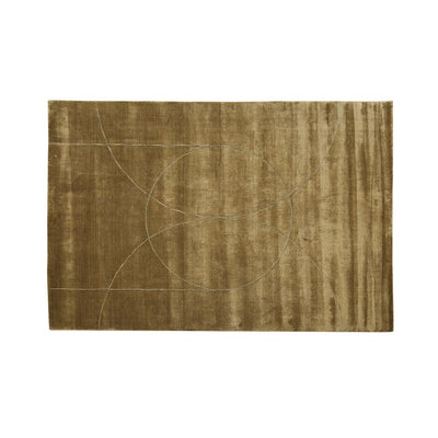 Globewest Adele Circle Rug in Ochre