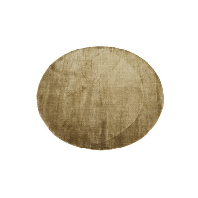 Globewest Adele Oval Rug in Mustard