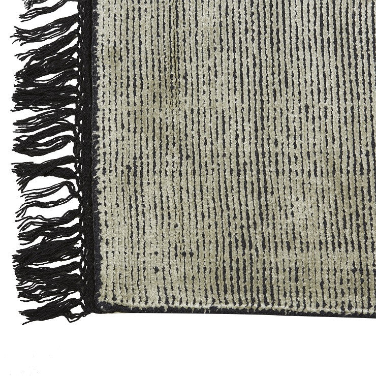 Adele Tassel Rug in Steel
