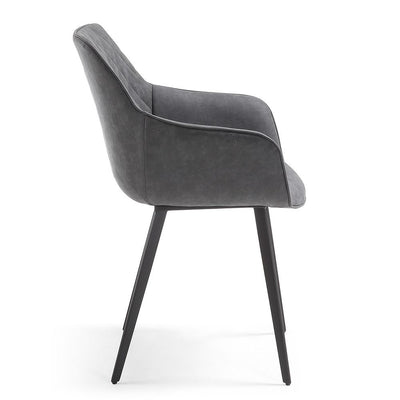 Aminy Arm Chair in Graphite