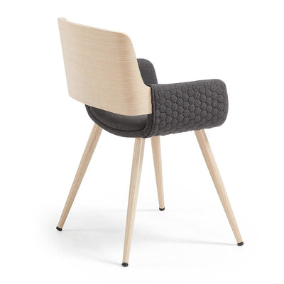 Andre Arm Chair in Dark Grey