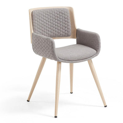 Andre Arm Chair in Grey