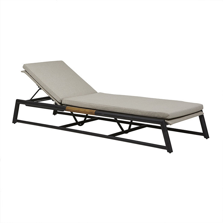 Globewest Antigua Sunbed in Ashe/Black