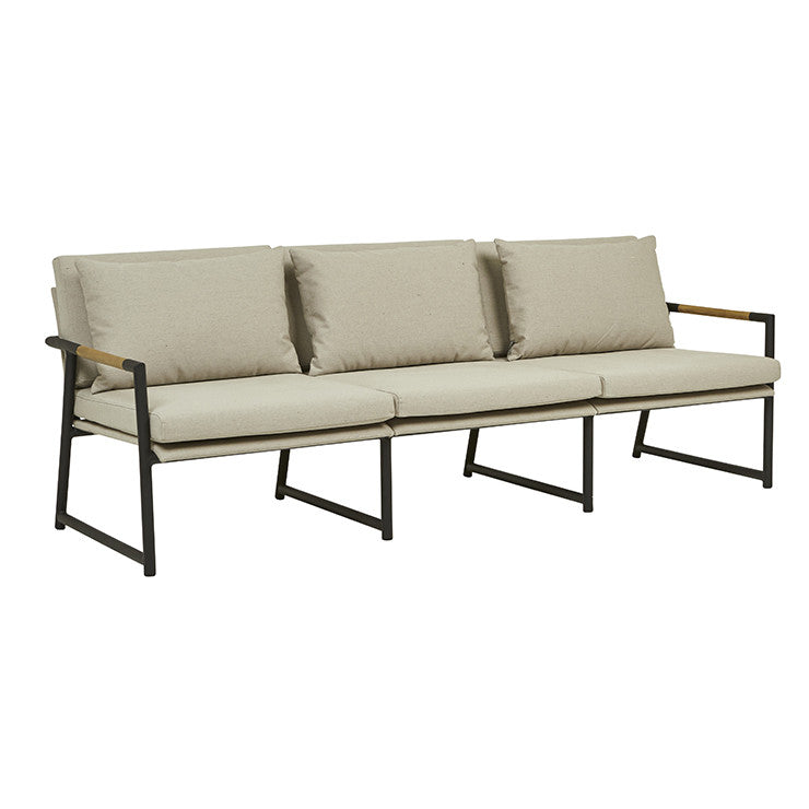 Globewest Antigua Sofa - Ashe/Black