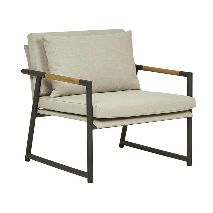 Globewest Antigua Sofa Chair - Ashe/Black