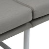 Globewest Antigua Sofa - Pale Grey/White