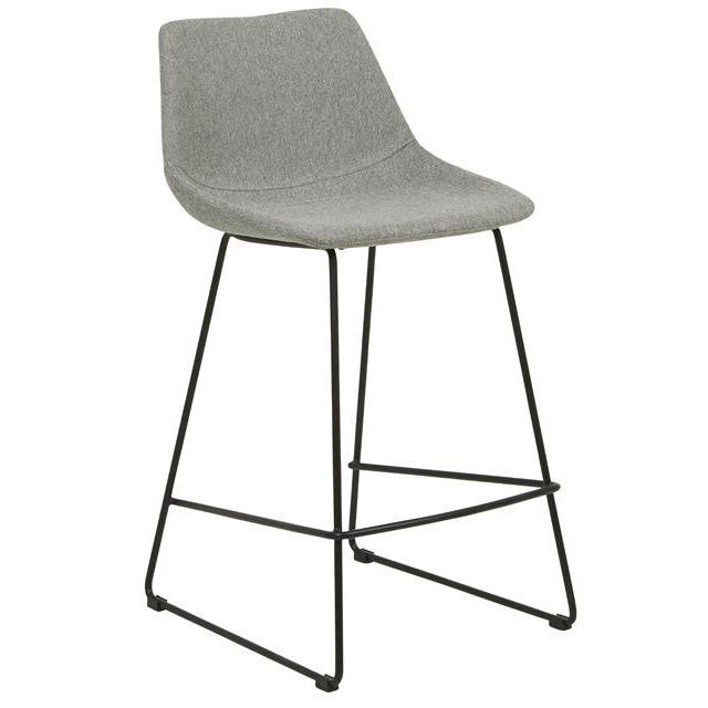 Arnold Barstool in Grey Speckle/Black