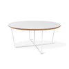 Gus Modern Array Round Coffee Table - White