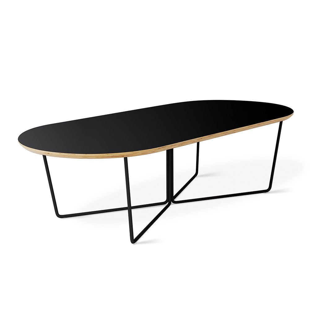 Gus Modern Array Oval Coffee Table - Black