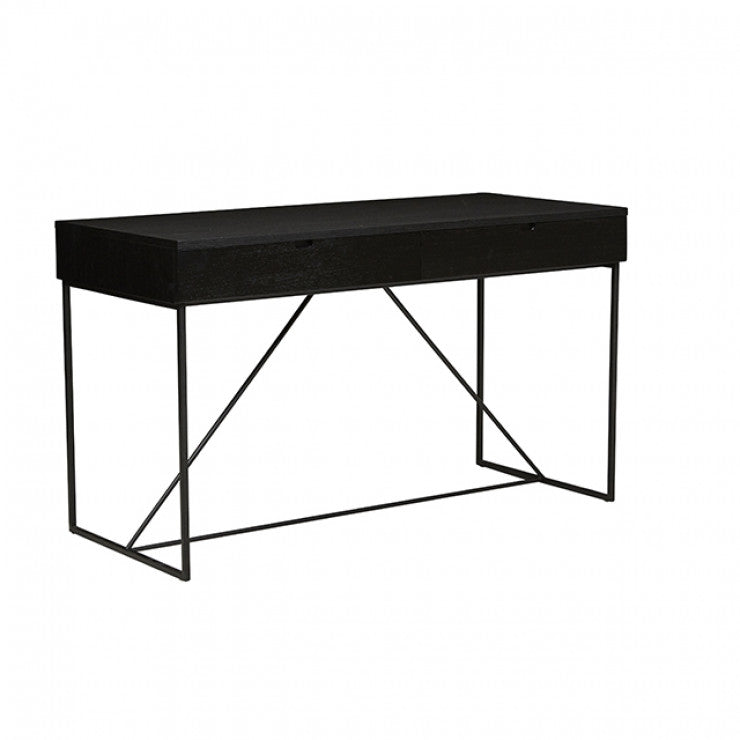 Globewest Bailey Desk in Black Oak/Black