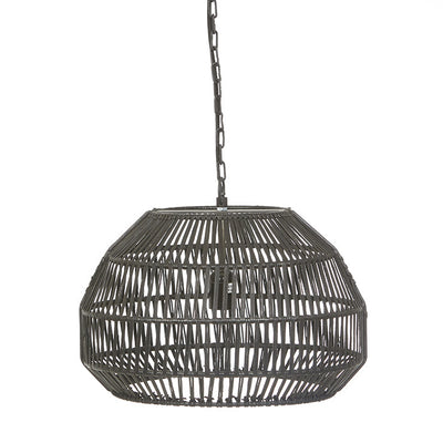 Balthazar Hexagon Black Woven Pendant