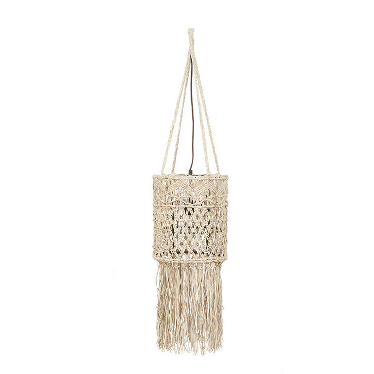 Balthazar Leather Macrame Pendant