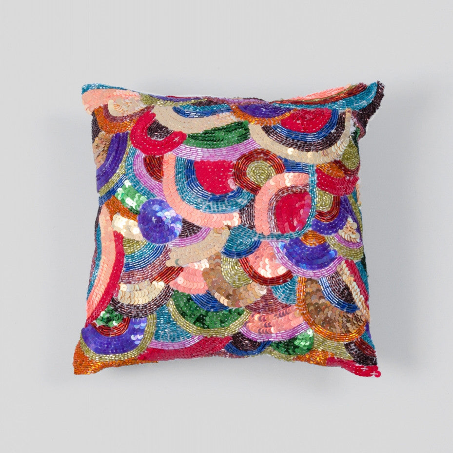 Bejewelled Cushion Multi