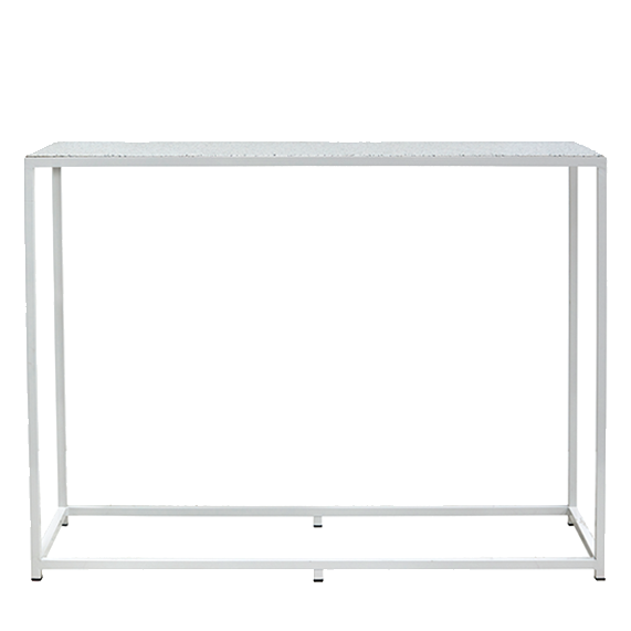 Bijoux Terrazzo Long High Bar - White Frame