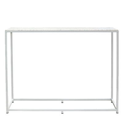 Bijoux Terrazzo Long High Bar - White Frame in Nougat