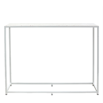 Bijoux Terrazzo Long High Bar - White Frame in Rosa