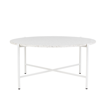 Bijoux Terrazzo Round Coffee Table in Nougat