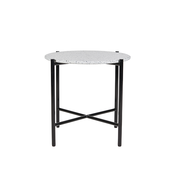 Bijoux Terrazzo Round Side Table in Cassata