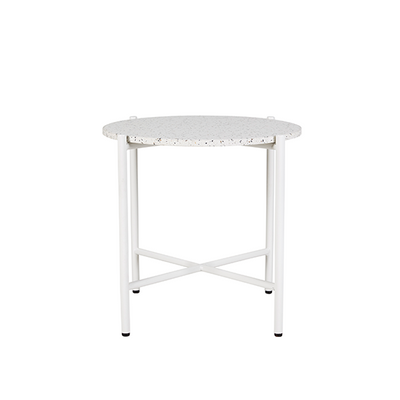 Bijoux Terrazzo Round Side Table in Nougat
