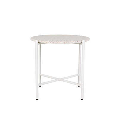 Bijoux Terrazzo Round Side Table in Rosa