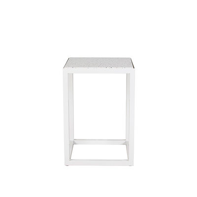 Bijoux Terrazzo Square Side Table in Nougat