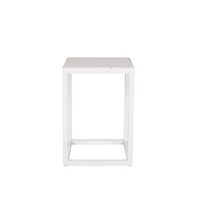 Bijoux Terrazzo Square Side Table in Rosa