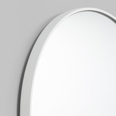 Bjorn Oval Small Mirror in Bright White
