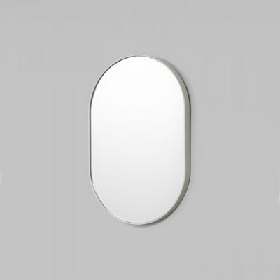 Bjorn Oval Small Mirror in Dove