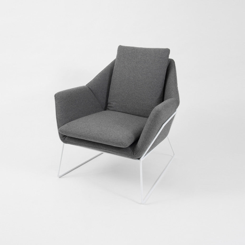 Middle of Nowhere Boden Chair in Grey/White
