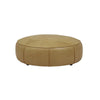 Bogart Compass Ottoman Light Tan Leather