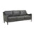 Globewest Bogart Slope Sofa - Grey Leather