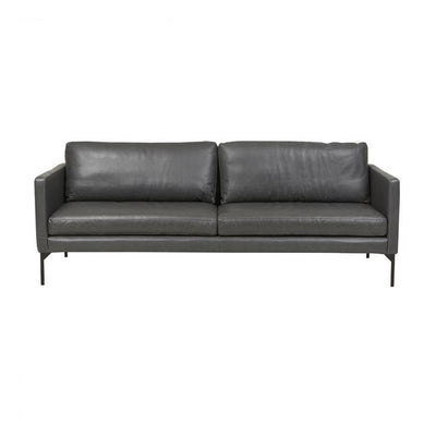 Globewest Bogart Square Sofa - Grey Leather