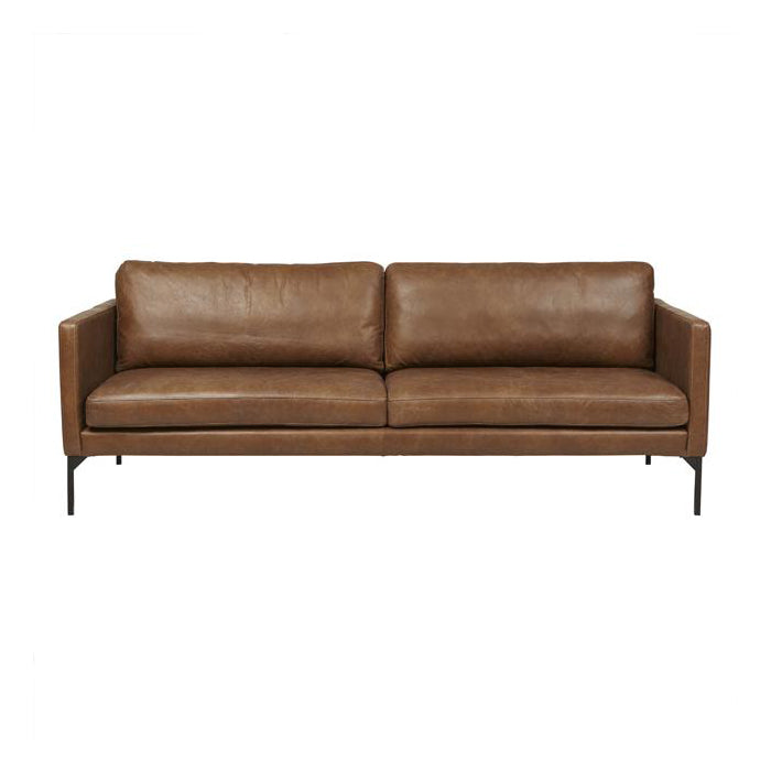 Globewest Bogart Square Sofa - Tan Leather