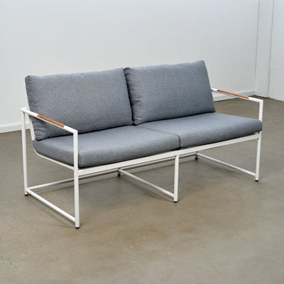 Bondi Outdoor Sofa  - White/Steel | Outdoor Furniture Melbourne