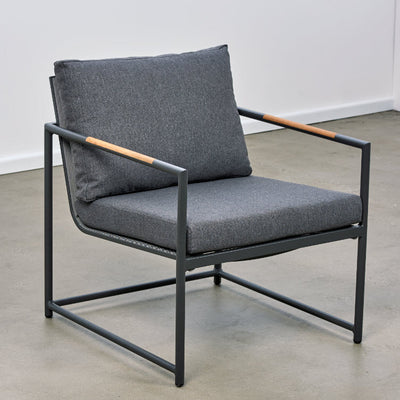 Bondi Outdoor Occasional Chair  - Charcoal/Charcoal | Outdoor Furniture Melbourne