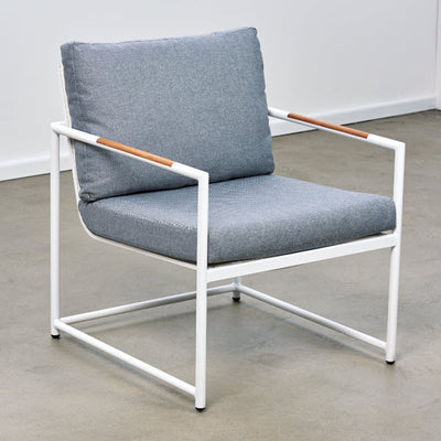 Bondi Outdoor Occasional Chair  - White/Steel | Outdoor Furniture Melbourne