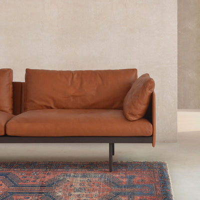Natadora Bureau Sofa in Heritage Tan Leather