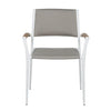 Calais Armchair in Pale Grey