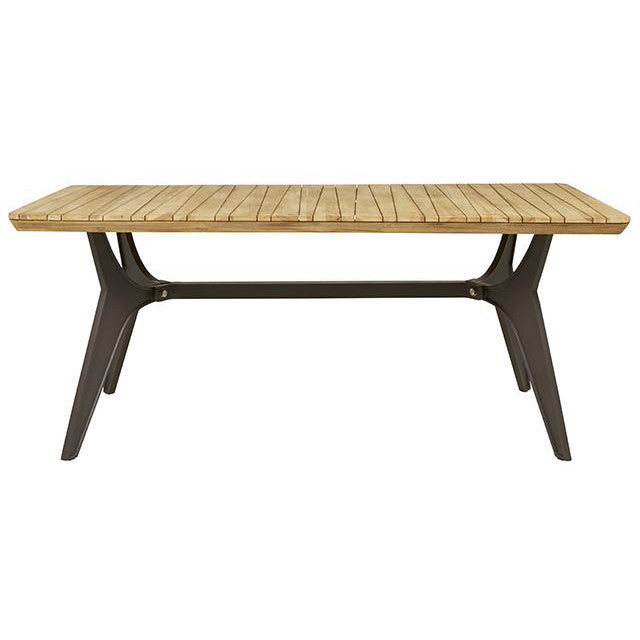 Calais Outdoor Dining Table Anthracite/Teak