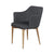 Carter Diamond Armchair in Slate Grey